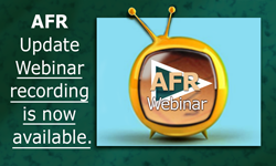 AFR Update Webinar Recording is Now Available