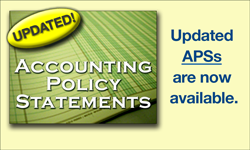 Updated Accounting Policy Statements are now available