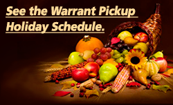 Warrant Pickup Schedule