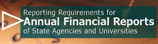 Reporting Requirements for Annual Financial Reports of State Agencies and Universities