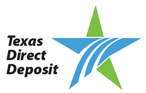 Texas Direct Deposit Logo 300 x 192 pixels