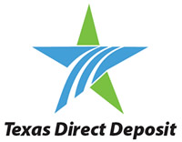 Texas Direct Deposit Logo 200 x 156 pixels