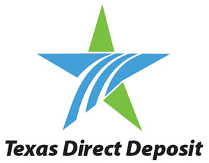Texas Direct Deposit Logo 300 x 234 pixels